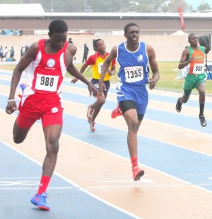Antonio Hoyte-Small was a double winner on the day in the under-17 boys 100m and 400m.