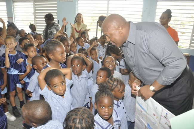 Barbados TODAY's Marketing Manager, David Williams, interacting with students during the question and answer segment.