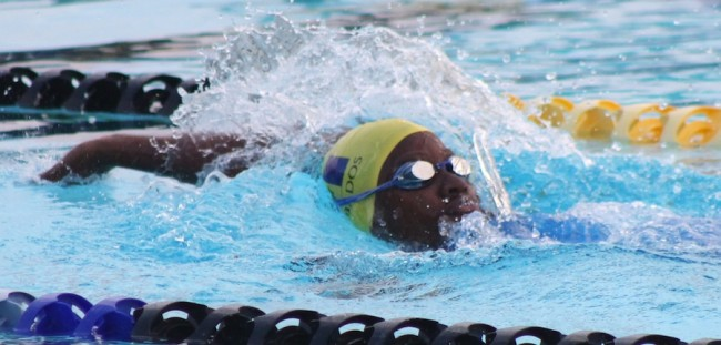 Danielle Titus set a CARIFTA record in the backstroke.