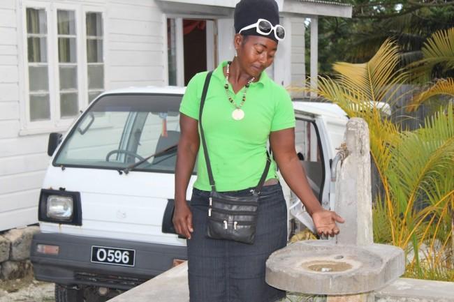 Sharon Drakes of Chimborazo, St Joseph highlights the problem of dry taps.
