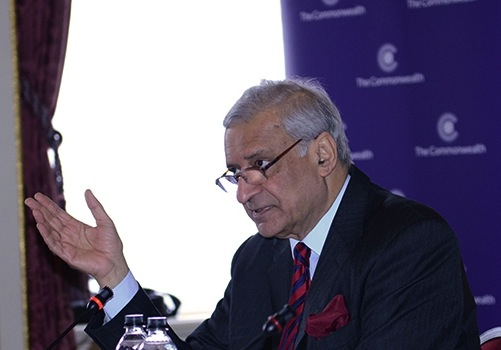 Commonwealth Secretary General Kamalesh Sharma.