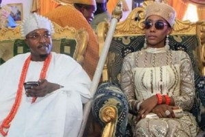 Imperial Oluwo of the Iwo Kingdom and his queen, Chanel Chin.