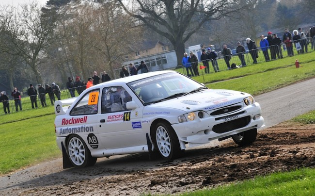 Nigel Worswick in his Ford Escort WRC on Saturday. (Picture by James Redman)