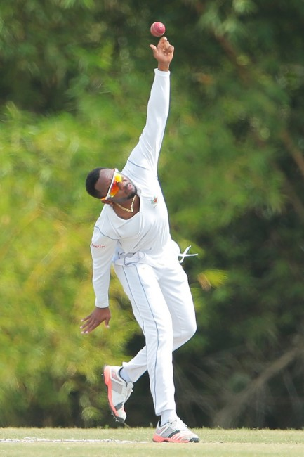Left-arm spinner Jomel Warrican was the Pride's best bowler today.