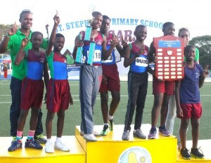 St Stephen's Primary have won the boys' championship at the final of the National Primary Schools Athletics Championship. (Pictures by Morissa Lindsay)