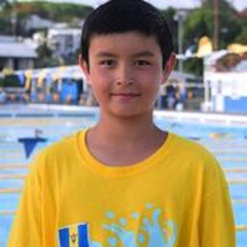 Tristan Pragnell took the gold medal in the 100m backstroke in the 11-12 age group.