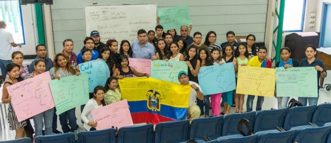Most of the Ecuadorian students studying at the UWI, Cave Hill Campus.