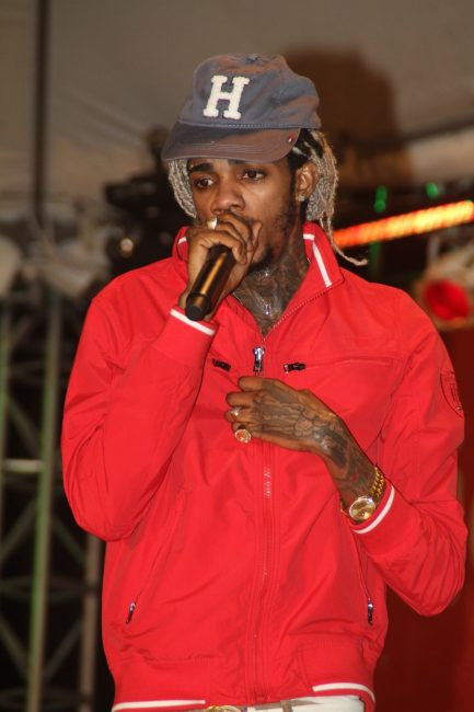 Alkaline performing  during his hour-long set.
