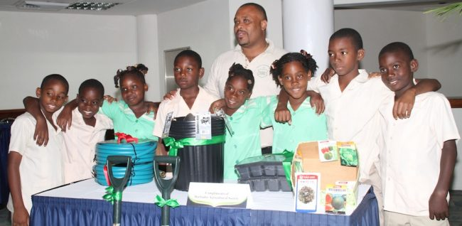 All about prizes for the young gardeners of All Saints Primary.