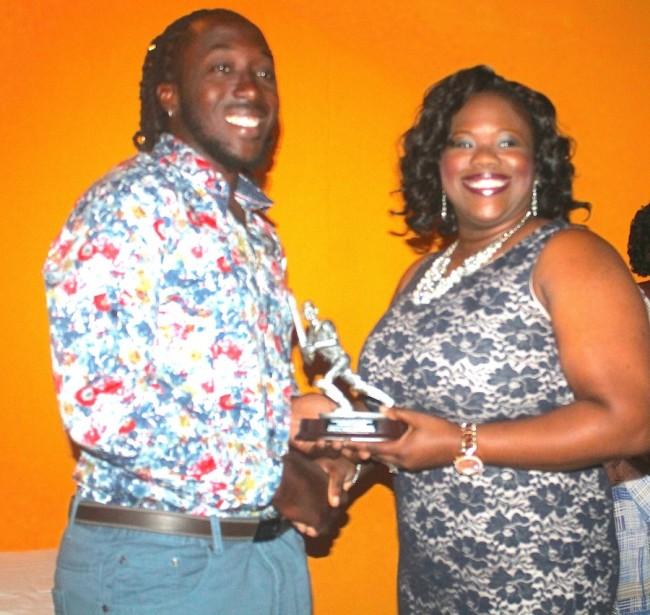 The President's award was presented to Dwayne Collymore by Tracy Barker- Linton.