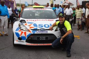 Barry Mayers and his Ford Fiesta. (Picture by Himal Reece)