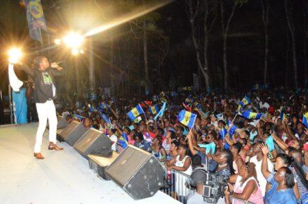 Trinidadian reggae artist Positive was a definite hit.