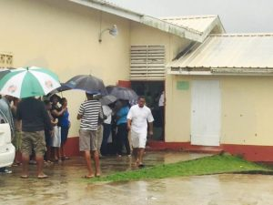 A Babonneau polling station.
