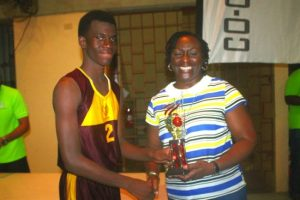 Aboke Forde was the Most Valuable Player in the National Sports Council's Co-operators General Insurance League final