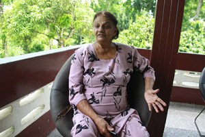 Child bride Rosey Ali recounts her life during an interview at her home at Lands Settlement Road, Ecclesville, Rio Claro.