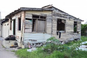 Homeless man Philip Davidson is appealing to the authorities for help after he was evicted from this derelict house.