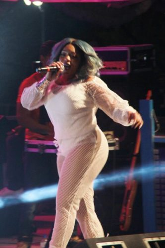 Trinidadian artiste Destra was a hit with the Bajan crowd.