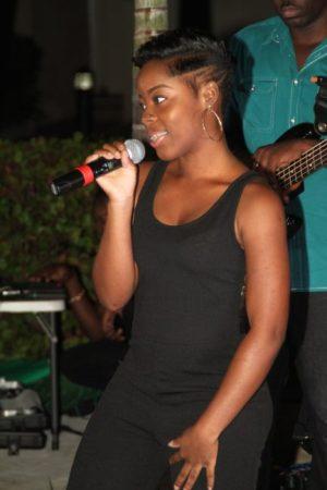 Adrian Clarke's daughter  Azizi impressed with  her vocals.