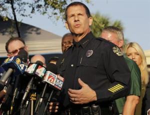 Orlando Police Chief John Mina describes the details of the fatal shootings at the Pulse Orlando nightclub during a media briefing Monday.