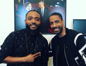 Soca star Machel Montano with R&B star Ryan Leslie at the White House.