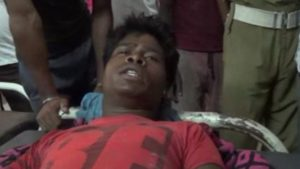 This man, who was taken to hospital in Bihar, told journalists he had been knocked out by the lightning