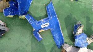 At least one piece of debris had an EgyptAir logo.