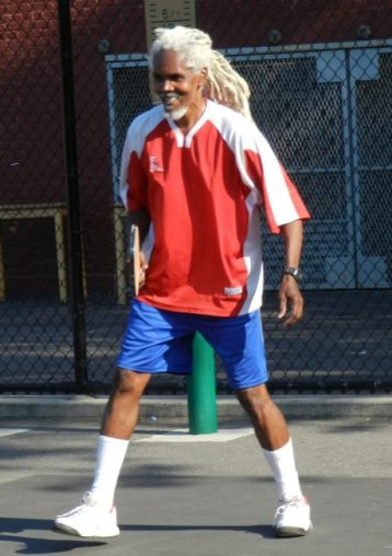 Gregory Hinds, the founder of the Pride of BIM road tennis tournament.