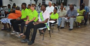 A section of the small audience attending  the Speightstown trade discussion.