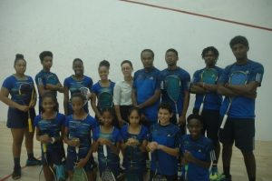 Barbados' junior squash players are ready for imminent tournament.