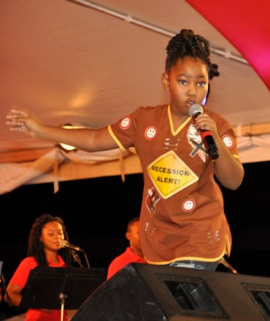 Summa during her winning performance of Go Away Recession.