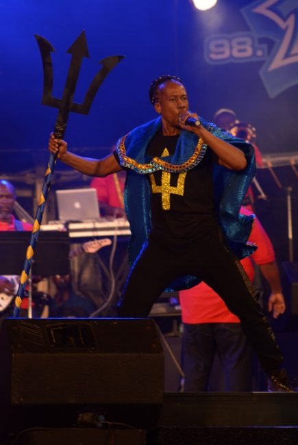 Lil Rick during his winning performance of I'z A Bajan.
