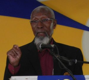 Retired principal of Belmont  and Wilkie Cumberbatch Primary Schools Calvin Briggs gave the feature address.