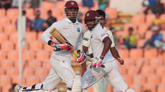 The form of Marlon Samuels (l) and Darren Bravo (r) in the West Indies' middle order will be crucial to the home side's chances against India
