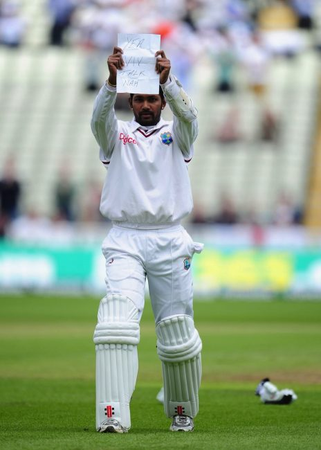 Denesh Ramdin is throwing a tantrum again.