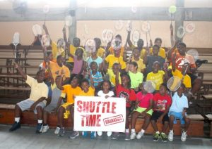 Participants of the Shuttle Time Programme conducted by the National Sports Council. (Pictures by Morissa Lindsay)