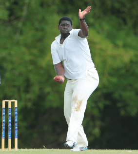 Rahkeem Cornwall took five wickets against the Indians with his off-spin.