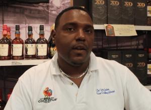Cockspur Rum representative Shane Dorson
