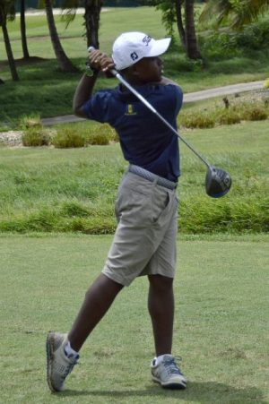 Barbadian Xzavier Wiggins is playing in the IMG World Juniors in California.