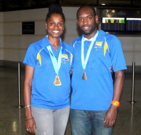 Tamisha Williams and Dakeil Thorpe were outstanding in winning gold in the senior mixed doubles competition.