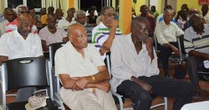 A section of the audience at last night's event put on by the Maurice Byer Polyclinic Men's Group.