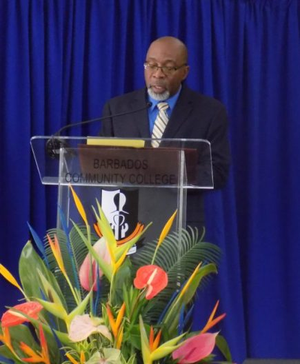 Principal of the Barbados Community College Dr Ian Austin.