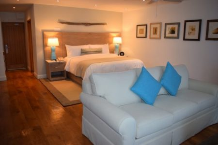 One of the suites at Waves Hotel.