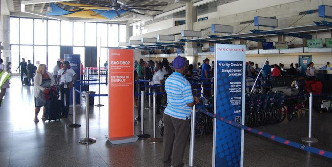 Today, airlines were busy trying to cater to passengers displaced by yesterday's closure of the Grantley Adams International Airport due to the passage of Tropical  Storm Matthew.