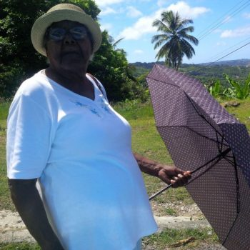 Millicent Thompson is hoping the new Barbados Water Authority water tanker system works.