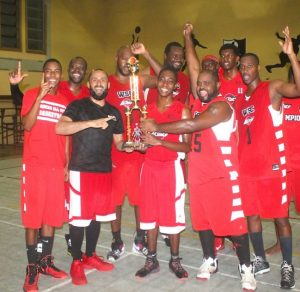 Pan American International Insurance Warrens Sports Club are kings of the Barbados Amateur Basketball Association's Division One Knockout Competition. (Pictures by Morissa Lindsay)