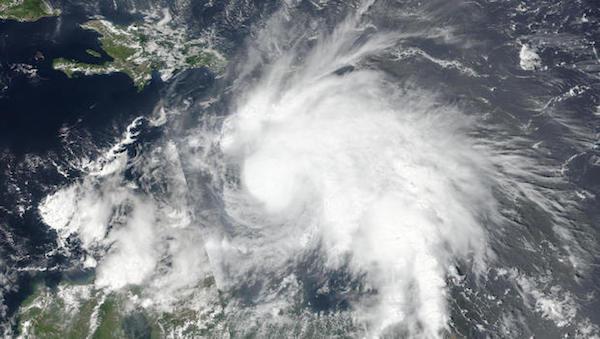 Satellite imaging of Hurricane Matthew.