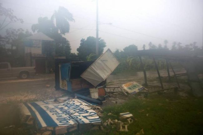 Strong winds ripped through Haiti.