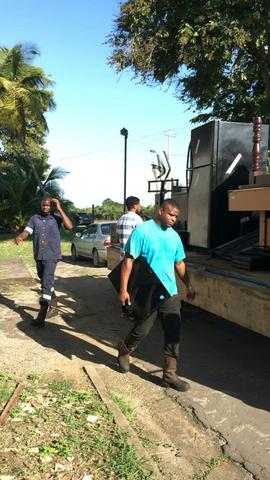 Bailiffs remove items from the home of Crime Watch Host Ian Alleyne, after the host failed to pay damages in the Shaun Sammy vs Ian Alleyne defamation case.
