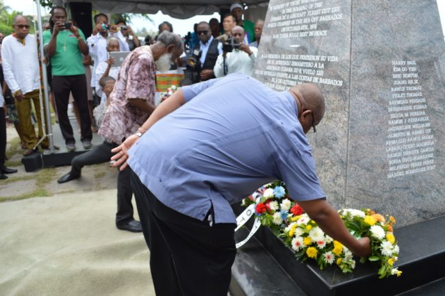 Many took part in today's wreath-laying ceremony.