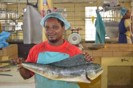Fish vendor Ryan Codrington.